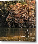 Fly Fishing  Metal Print by Tamyra Ayles