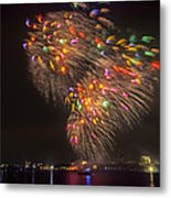 Flying Feathers Of Boston Fireworks Metal Print by Sylvia J Zarco