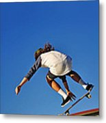 Flying High - Action Metal Print by Kaye Menner