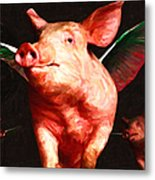 Flying Pigs V2 Metal Print by Wingsdomain Art and Photography