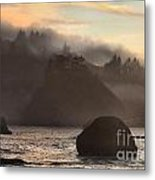 Fog Over Trinidad Metal Print by Adam Jewell