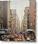 Foggy Day In The City Metal Print by Kathy Jennings