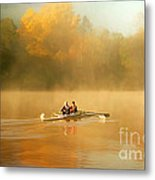 Foggy Morning On The Chattahoochee Metal Print by Darren Fisher
