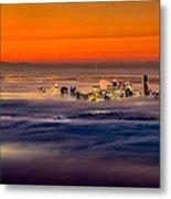 Foggy Sunrise Metal Print by Alexis Birkill