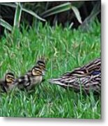 Following Mommy Metal Print by Lee Dos Santos