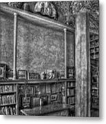 Fonthill Castle Library Metal Print by Susan Candelario