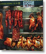 Food - Roast Meat For Sale Metal Print by Mike Savad
