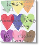 Foodie Love Metal Print by Linda Woods
