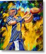 Football I Metal Print by Lourry Legarde