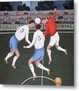 Football Metal Print by Jerzy Marek