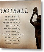 Football Metal Print by Lori Deiter