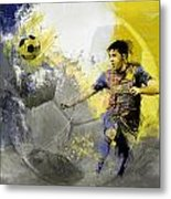 Football Player Metal Print by Catf