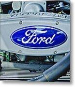 Ford Engine Emblem Metal Print by Jill Reger