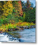 Foretelling Of A Storm Beaver's Bend Broken Bow Fall Foliage Metal Print by Silvio Ligutti