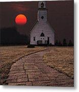 Fort Belmont Sunset Metal Print by Aaron J Groen