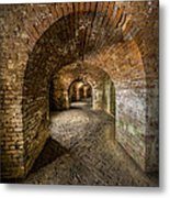 Fort Macomb Arches Vertical Metal Print by David Morefield