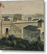 Fort Moultrie Circa 1861 Metal Print by Aged Pixel