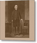 Founding Father Samuel Adams Metal Print by War Is Hell Store