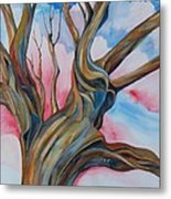 Fourth Of July - The Happy Tree Metal Print by Roy Erickson