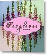 Foxgloves Times 4 Metal Print by Margaret Newcomb