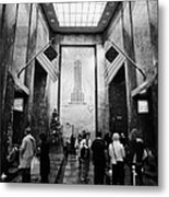 Foyer Of The Empire State Building New York City Metal Print by Joe Fox