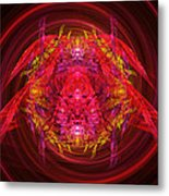 Fractal - Insect - Jeweled Scarab Metal Print by Mike Savad