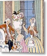 France In The 18th Century Metal Print by Georges Barbier