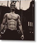 Frankenstein's Science Metal Print by Bob Orsillo
