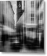 Frauenkirche - Muenchen V - Bw Metal Print by Hannes Cmarits