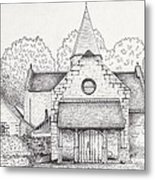 French Church Metal Print by Michelle Welles