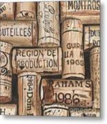 French Corks Metal Print by Debbie DeWitt