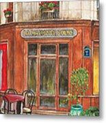 French Storefront 1 Metal Print by Debbie DeWitt
