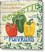 French Veggie Sign 4 Metal Print by Debbie DeWitt