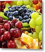 Fresh Fruits And Cheese Metal Print by Elena Elisseeva