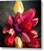 Fresh Spring Tulips Still Life Metal Print by Edward Fielding