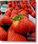 Fresh Strawberries Metal Print by Peggy J Hughes