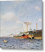 Fresh Wind On The Volga Metal Print by Isaak Ilyich Levitan