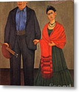 Frida Kahlo And Diego Rivera 1931 Metal Print by Pg Reproductions