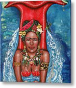Frida Makes A Splash Metal Print by Ilene Satala
