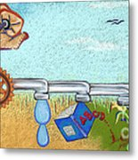 From Nothing To Something Metal Print by Tracy L Teeter