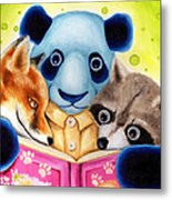 From Okin The Panda Illustration 10 Metal Print by Hiroko Sakai