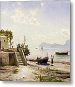 From Sorrento Towards Capri Metal Print by Peder Monsted