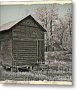 Frosty Morning Sepia 1 Metal Print by Chalet Roome-Rigdon