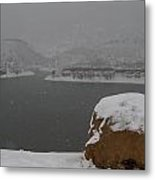 Frozen Inlet Metal Print by Harry Strharsky