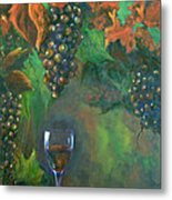 Fruit Of The Vine Metal Print by Sandra Cutrer