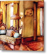 Furniture - Chair - The Queens Parlor Metal Print by Mike Savad