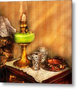 Furniture - Lamp - The Gas Lamp Metal Print by Mike Savad