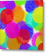 Fuzzy Polka Dots Metal Print by Andee Design