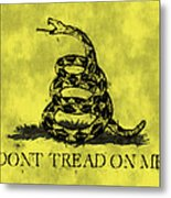 Gadsden Flag - Dont Tread On Me Metal Print by World Art Prints And Designs