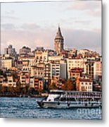 Galata Skyline 03 Metal Print by Rick Piper Photography